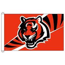 New listing Cincinnati Bengals Horizontal Tiger Head Flag 3'X5' Indoor Outdoor New Last One!