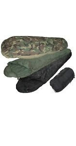US MILITARY ISSUE 4 PIECE MODULAR SLEEP SYSTEM MSS WOODLAND CAMO BIVY EXCELLENT