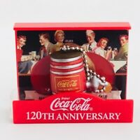 Coca Cola Memorial Figure Collection Dispenser Barrel 120th Anniversary Japan