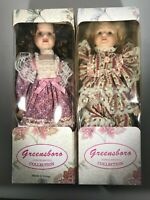 Greensboro Porcelain Doll Collection Lot of Two Dolls In The Boxes