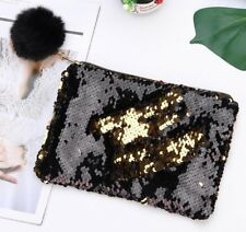 Sequins Makeup Case Glitter Pouch Reversible Pencil Bag for Girls New Pen Case
