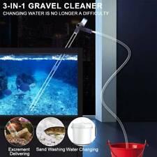 Fish Tank Gravel Cleaner Kit Siphon Water Clean Pump Vacuum Aquarium Cleaning