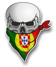 Skull With Face BANDANA & Portugal Portuguese Flag vinyl car sticker decal