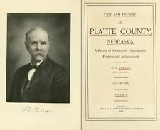 1915 PLATTE County Nebraska NE, History & Genealogy Ancestry Family Tree DVD B09