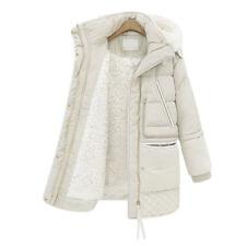Winter Womens Duck Down Jacket Hooded Coat Parka Thicken Fleece lined Warm Long