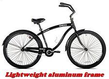"GENESIS CRUISER BIKE BLACK 29"" MEN'S CRUISER BICYCLE Aluminum Frame, Riding NEW!"