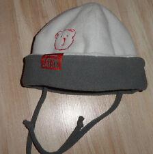 Verwandlungs Mütze Fleece hell und dunkel Grau Bebe Miniman Teddy 47/48