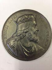 Hugues Capet - Médaille en etain signée Caqué 1838 - Série Rois de France