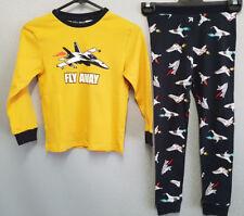 BNWT Boys Sz 6 Under Cover Crew Fly Away Mustard Long Jersey Knit Winter Pyjamas