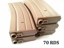 E&C 5 Pcs 70 Rounds 6mm Pellets Mag For Airsoft M Series DE (EC-MA002B)