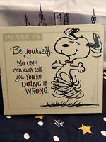 vintage hallmark plaque With Snoopy