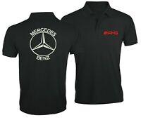 Mercedes Benz AMG Ventilateur Club Sport Voiture Brodé Homme Chemise Polo Top