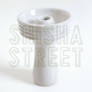 Khalil Mamoon Clay Phunnel Head Shisha Bowl Hookah Starbuzz Sheesha WHITE