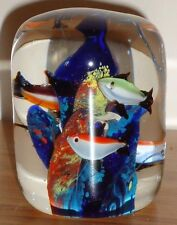 "TROPICAL FISH Paper Weight 3.25""H"