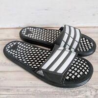 Adidas Comfort Massage Slides Mens Size 9 Black White NWOB