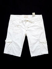 "NEW WITH TAG AMERICAN EAGLE White Tie Waist Board/Cargo Shorts Size 4 32"" x 12"""