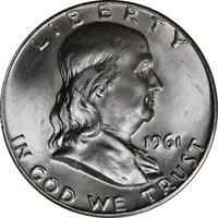 1961-D Franklin Half Dollar Choice BU