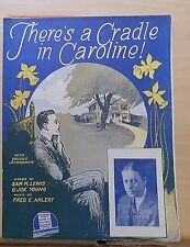 There's A Cradle In Caroline - 1927 Sheet Music - Al Moore photo cover