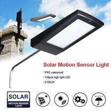 Solar Power Panel Lamp 108 LED Motion Sensor Outdoor Garden Street Wall Light