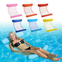 Hamac transat chaise gonflable piscine plage eau flottant relaxation bronzage FR