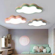 Wood LED Ceiling Light Lamp Fixture Living Room Kids Bedroom Decor Babies Room