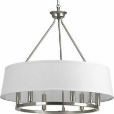 "Progress Lighting P4618 Nickel Cherish 6-Light 24""W Drum Chandelier"