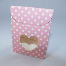 rosa MINI-Geschenktüte mit Boden + Sichtfenster  (60 x 35 x 80 mm)