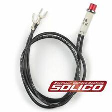Solico 14V Amber w// Steel Bezel Panel Mount Round Indicator Light 1 Watt