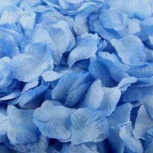 CORNFLOWER BLUE SILK ROSE PETALS FLOWER TABLE DECORATION CONFETTI WEDDING PARTY