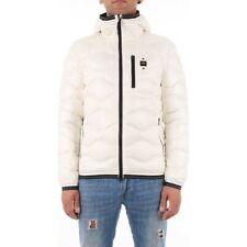 giubbotto uomo blauer bianco piumino cappuccio giubbino invernale jacket black