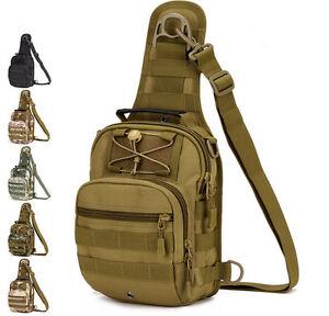 Molle Tactical Sling Chest Bag Assault Pack Messenger Shoulder Bag Backpack New