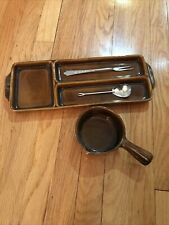 Vintage Georges Briard Mid-Century Relish Tray & Pouring Bowl Dishes