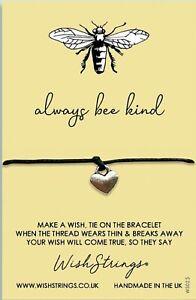Wish Bracelet. Always Bee Kind. Handmade Gift For Friend, Sister, Mother, Aunt