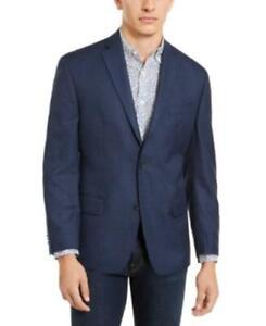 $295 Michael Kors Men's Classic-Fit Check Sport Coat Navy Size 40 R/M37.5
