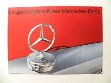 Catalogue / brochure MERCEDES-BENZ la gamme de voitures MERCEDES-BENZ