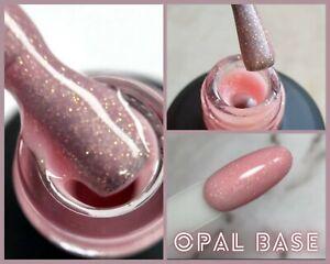 NailApex Opal Peach Base Cover Camouflage Glitter Base Coat Shimmer Gel Nail Art