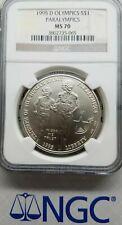 1995 D MS70 Olympics Paralympics Commemorative Silver Dollar NGC