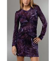 Torn By Ronny Kobo Roberta Purple Storm Jersey Dress Women's Size M