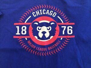 Chicago Cubs Baseball MLB GM Est 1876 Blue Crew T-Shirt SZ XXL - cool