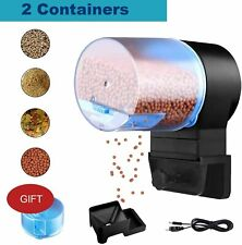 Digital Automatic Fish Feeder - Rechargeable Timer Fish Feeder with USB Charger