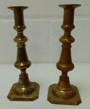 Pair Brass Candlesticks 24cms High