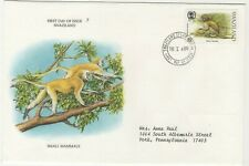 Swaziland 1989 First Day Cover Small Mammals Green Monkey