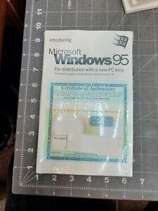 Microsoft Windows 95 OEM Program License & Certificate Sealed Dell [A7B3]