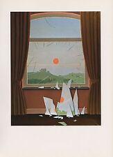 "1972 Vintage MAGRITTE ""EVENING FALLS - LE SOIR QUI TOMBE"" COLOR Art Lithograph"