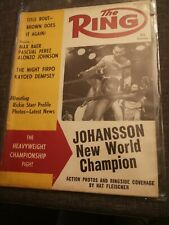 THE RING AUG 1959 BOXING MAGAZINE HEAVYWEIGHT CHAMPIONSHIP JOHANNSSON NEW CHAMP