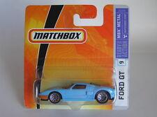 MATCHBOX (2006) #9 FORD GT BLUE & ORANGE GULF DUCK EGG No.4 RARE SHORT CARD MOC