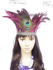 Indiano piuma fascia per capelli Carnevale Copricapo Costume Copricapo DANZA SAMBA