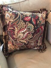 J. Queen New York Coventry Brown 20 X 20 Square Throw Pillow Floral Paisley