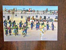 Vintage Postcard PUEBLO INDIAN CORN DANCE CEREMONY color Willis