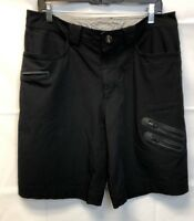Lululemon Athletic Black Men's Shorts Flat Zipper Front Pockets Waist 34 Golf